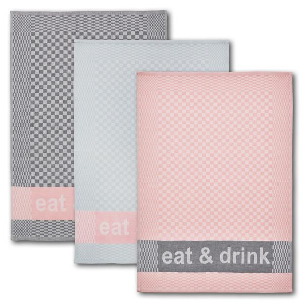 Geschirrtuch 3er-Set eat&drink 100 % Baumwolle
