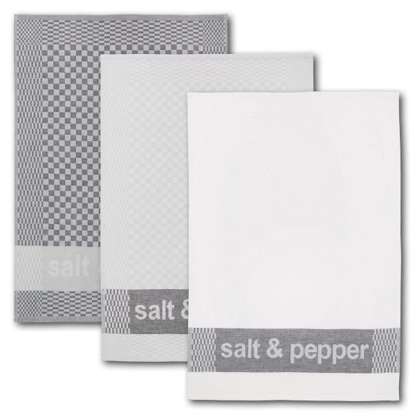 Geschirrtuch 3er-Set salt&pepper 100 % Baumwolle